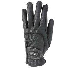 Toggi Hexham Horse Riding Dressage Gloves Close Fitting Non Slip Black Or White