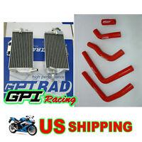 L&R Aluminum radiator&silicone hose Honda CR125 CR125R 05 06 07 2005 2006 2007