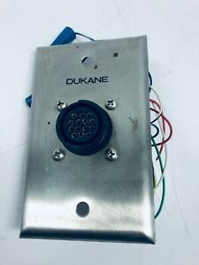 VINTAGE Dukane Master Station Connector Wall Plate 110-3284
