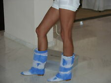 BRIAN ATWOOD Marble Blue Summer Boots  39 UK 6 !!!RETAIL PRICE 729 EURO!!!