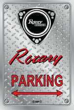 Metal Parking Sign  Rotary Mazda Style ROTARY#08 - Checkerplate Look