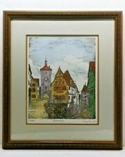 MARY ANN LIS Etching Hand-Colored Rothenburg Germany Signed & Numbered 286/400