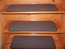 13  Step 9''x 30'' Stair Treads Woven Carpet Heat set Nylon Anso .