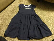 Hanna Andersson 110 Navy Blue W White Trim Dress