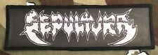 Sepultura Logo Large Super Strip Printed Patch S055P Exodus Slayer Whiplash