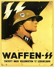WW2 German Aged Metal Sign, Army, Reenactor, Second World War, WSS101