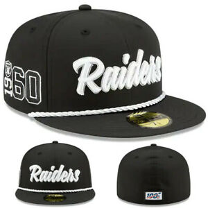New Era NFL Oakland Raiders 5950 Fitted Hat 1960 Team Established Edition Cap