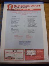 15/02/2005 Rotherham United Reserves v Sheffield Wednesday Reserves  [No Price]