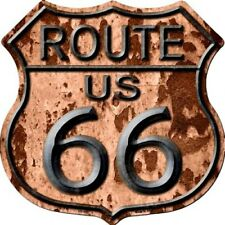 """Route 66 Rusty Look 11"""" Highway Shield Metal Sign Novelty Retro Home Wall Decor"""