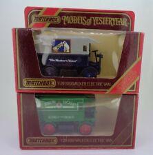 2x Matchbox Models of Yesteryear Y29 1919 Walker Electric Van