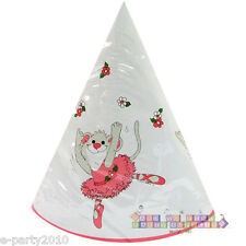 LITTLE SUZY'S ZOO CONE HATS (10) ~ Birthday Party Supplies Favors Ballerina Girl