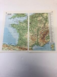Map 1985: France Netherlands Ireland 35 Years Old Print Complete Maps