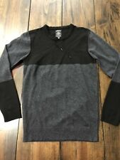 Diesel Industry Drawstring Sweater Sweatshirt Black Gray • Large