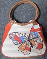 RELIC BUTTERFLY MULTI COLORED RING SHOPPER BAG PURSE NEW WITH TAGS $68