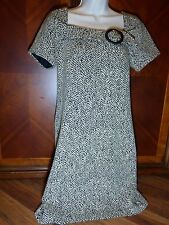 Triple Rabbit Rabbit Rabbit Black White Dress Siz 8 Zebra Print Old Fashion Look
