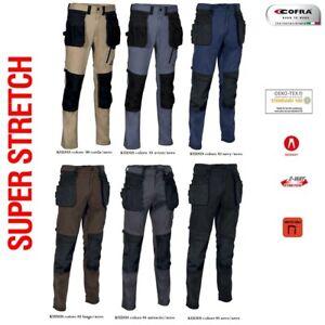 Pantaloni da Lavoro Multitasca COFRA modello KUDUS Elasticizzati Ergonomici Slim