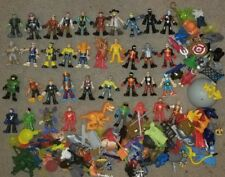 """Imaginext 3"""" Action Figure lot of 42 AND 140+ Accessories Guns Helmets Shields"""