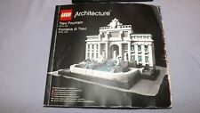 Lego Architecture 21020 Trevi Fountain Rome Italy complete with manual (no box)