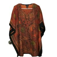 Unisex African Ethnic Polyester Short Sleeve Top Multicolored One Size