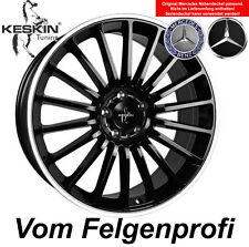 "19"" ET30 Alu Felgen (4x) Keskin KT15 Black Polish Mercedes C-Klasse 203 W203"