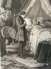 Mort Reine Hortense de Beauharnais Empire Français Gravure 1854 Napoléon