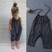 Summer Girls Kids Party Shorts Rompers Playsuits Jumpsuit Clothes Age For 2-7Y