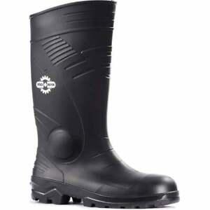 ROCK FALL ProMan Full Safety PVC/Nitrile Wellington Boot TC200 Size 5 Or Size 8