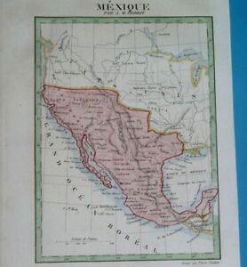 1843 RARE ORIGINAL MAP TEXAS CALIFORNIA ARIZONA UNITED STATES NEW MEXICO NEVADA