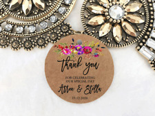 10 Kraft Brown Gift Tags Wedding Favour Bomboniere Personalised Thank you V9