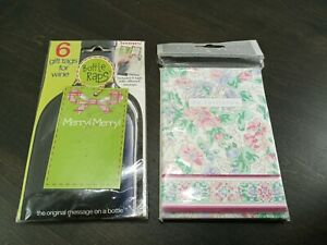 Invitations & Bottle Gift Tags  Eileen West 8 cards & envelopes  Boomers 6 tags