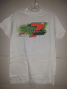 Danica Patrick # 7 Nascar Go Daddy White T-shirt, Medium
