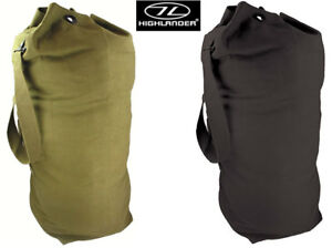 Military Combat Army Kit Shoulder Duffle Bag Green Black Canvas Mixed Sizes M-XL