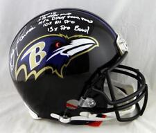 Ray Lewis Ravens F/S ProLine Helmet w/ 5 Insc- Beckett Auth *White Full Name