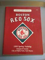 1993 BOSTON RED SOX SPRING TRAINING OFFICIAL GAME PROGRAM inaugural season