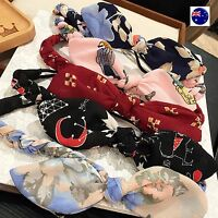 Women Girl Retro Boho bow ear Braided scarf Stretch Hair elastic head band Wrap