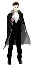 Mens Phantom Opera Count Regency Costume Fancy Dress Xmas Panto Outfit M/L NEW