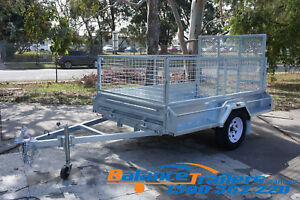 8×5 HOT DIP GALVANISED FULLY WELDED TIPPER BOX TRAILER 600MM CAGE & 1,290mm RAMP
