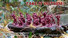 Armies in Plastic French & Indian War Northeastern Woodland Indians Set #1 1/32