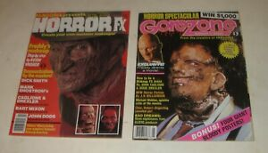 1988 CINEMAGIC HORROR FX #1 MAGAZINE + GORE ZONE #1 MAGAZINE BOTH NICE CONDITION