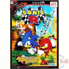 Flyer Sonic R Chirashi Handbill Sega Saturn 1997 [JAP] Promo VGC