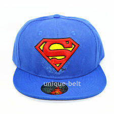 New Costume Superman Blue Snapback Hiphop adult baseball cap flat hat Gift
