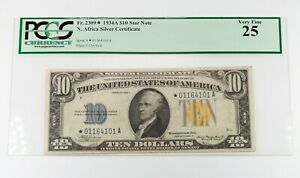 1934-A $10 North Africa Star Note Graded by PCGS as VF25 FR #2309☆