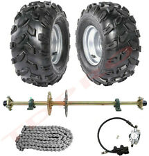 "44"" Go Kart Rear Live Axle Kit Brake Disc Caliper Sprocket Wheels Quad Buggy ATV"