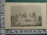 1851 ANTIQUE LONDON PRINT ~ THE NEW SMALL POX HOSPITAL HIGHGATE