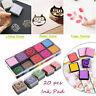 20pcs Multicolor Rubber Stamp Craft Ink Pad Scrapbooking Craft Finger Paint v