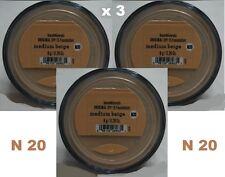 Bare Minerals Escentuals SPF 15 Foundation MEDIUM BEIGE - N20 8g XL  x 3