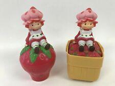 2 Vintage 1981 Strawberry Shortcake Music Box With Mirror