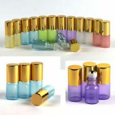 2pc~50pc 3ml Glass Roll on Bottles Essential Oil Perfume Glass Roller Ball