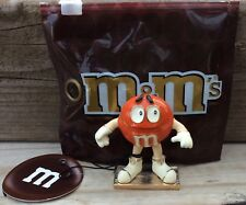 M&M Monet Orange Character Keepsake Trinket Jewelry Box w/Charm Enamel Hinged