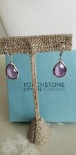 Touchstone Crystal by Swarovski Lilac Crystal Droplet Earrings New